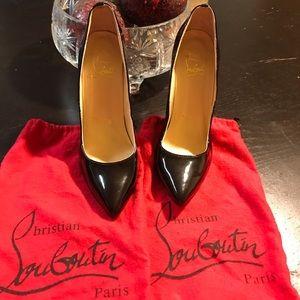 Christian Louboutin Black red bottom heels